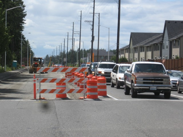 Lane closures, shifts and constrictions begin at Gem Heights Drive.