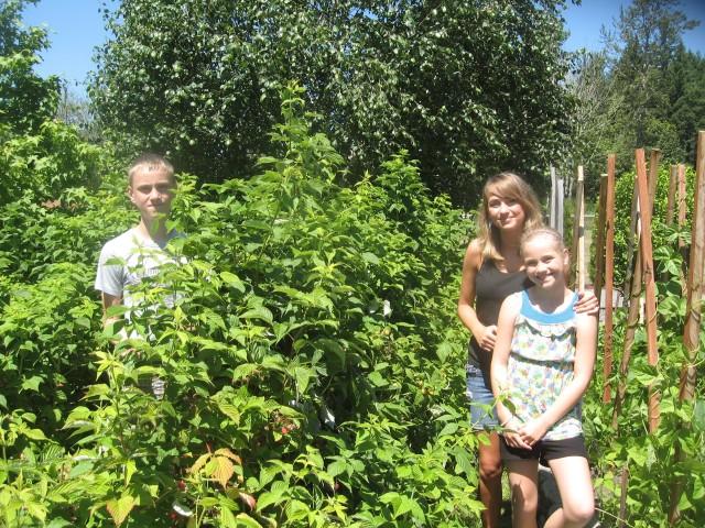 The Schaub grandkids, l-r, Cameron, Lauren and Taylor.