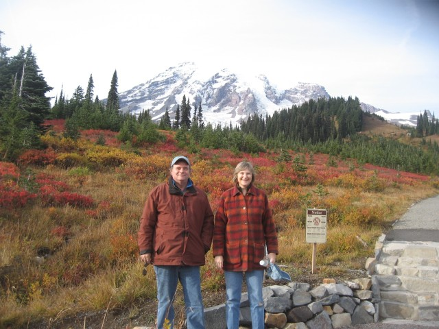 "Me and Sis at Paradise, October, 2010.  If you'd like to be part of my ""strolling"" club, give me a call."