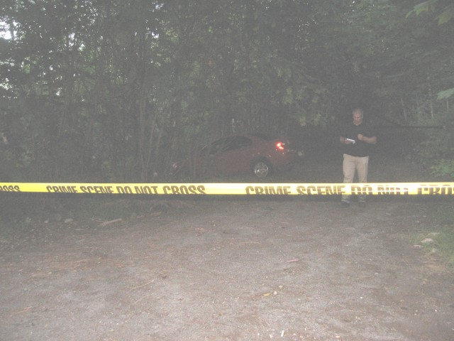 PCSD, Nicole White, car in woods, 6. 8. 15