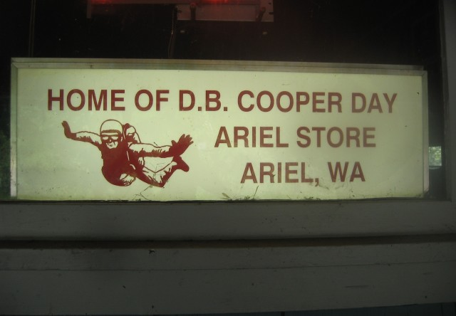 DB Cooper Days signage, best