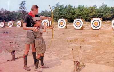 Wauwepex, archery, early 1960s, postcard