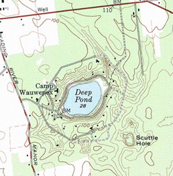 wauwepex, topo map, circa 1960s