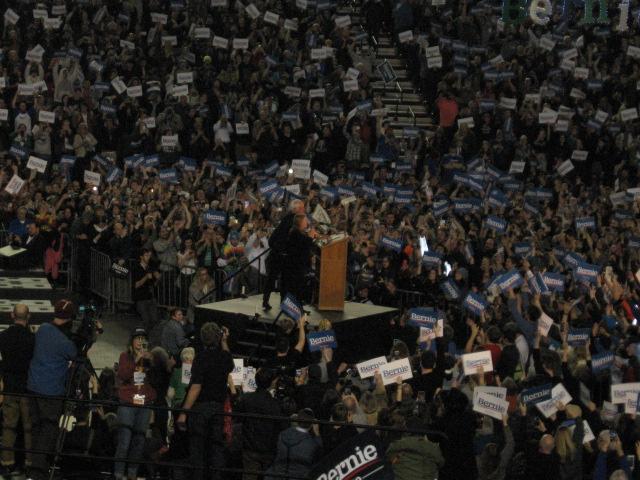 Bernie at podium, best