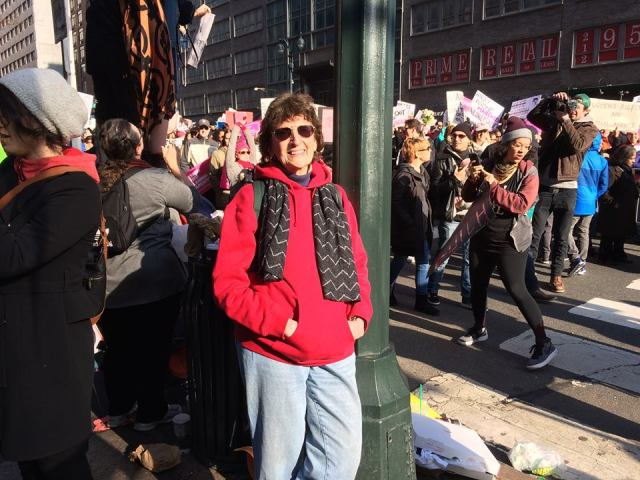 BJ at Women's March, 1. 21. 17