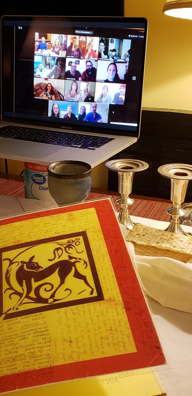 Covid pix, Seder